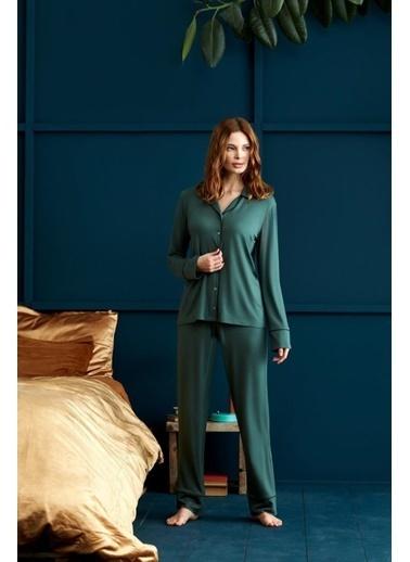Penye Mood 8902 Pijama Takım Yeşil
